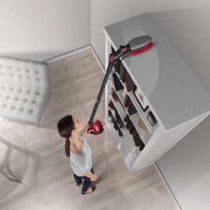 Aspirateur balai plafond étagères hauteur Dirt Devil DD1400 Dusty 360