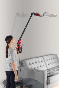 Aspirateur balai plafond luminaires avec brosse Dirt Devil DD1400 Dusty 360