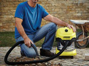 Test aspirateur eau et poussière Kärcher WD4 Premium - boue et gravats - jardin et terrasse