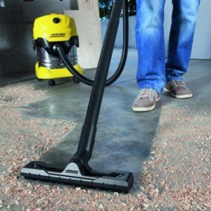 Test aspirateur eau et poussière Kärcher WD4 Premium - terre et gravats