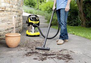 Test aspirateur eau et poussière Kärcher WD5 Premium - jardin