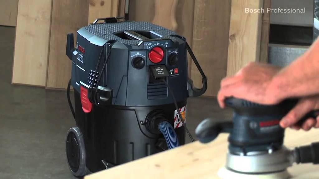 Test aspirateur eau et poussière atelier bricolage Bosch GAS 35 L SFC+