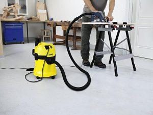 Test aspirateur eau et poussière bricoleur atelier pas cher Kärcher WD3P
