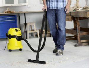 Test aspirateur eau et poussière garage Kärcher WD3P