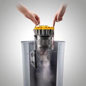 Vidage bac aspirateur sans sac poussière hygiénique Dyson DC33C Origin