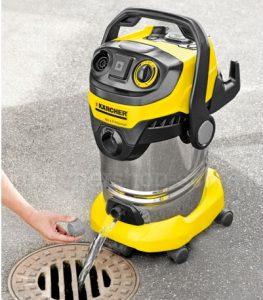 Vidange aspirateur eau et poussière Kärcher WD 6P Premium