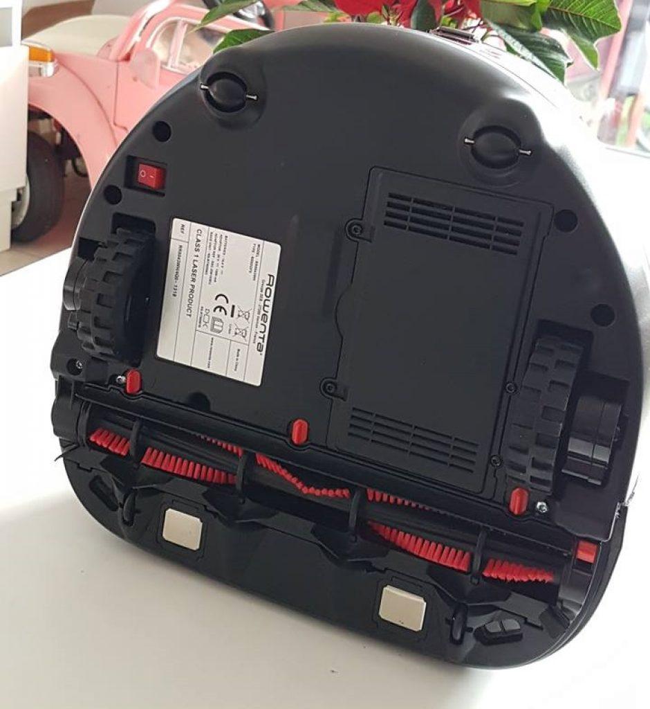dessous aspirateur rowenta robot RR8021WH