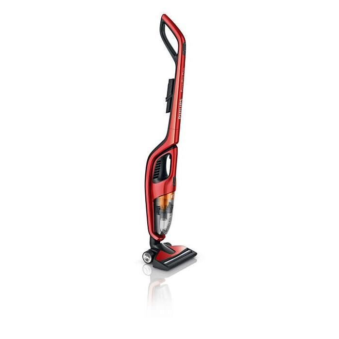 Aspirateur balai 2 en 1 - PHILIPS FC6162/02 PowerPro Duo - rouge scintillant