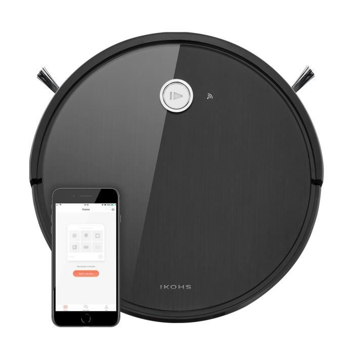 Aspirateur robot Netbot S14 IKOHS aspiration balaye nettoyage humide et à sec Alexa & Google Home télécommande