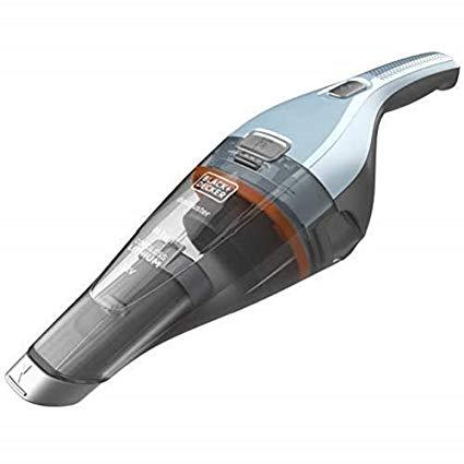 BLACK+DECKER NVC215W-QW Aspirateur à main sans fil - 7,2 V - Charge complète : 4h - Base de charge 15.5, 385 ml, Bleu ciel