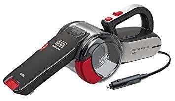 BLACK+DECKER PV1200AV-XJ Aspirateur à main spécial voiture filaire - 17,6 dm3/h - 12 V Allume-cigare - Bol : 440 ml - Prolongateur, tuyau flexible et brosse souple - Livré en sac de rangement