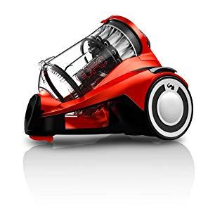 Dirt Devil DD5255-1 Infinity Rebel 55 HFC Aspirateur sans Sac Multi-Cyclonique + Brosse Parquet Rouge/Noir
