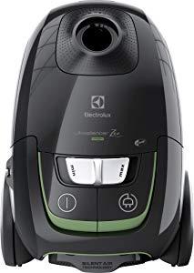 Electrolux EUS8GREEN Aspirateur avec sac ultra-silencieux, système d'aspiration AeroPro Silent Zen, sac S-Bag Clinic Anti Allergy, système Motion Control, 650W, 3,5litres, noir.