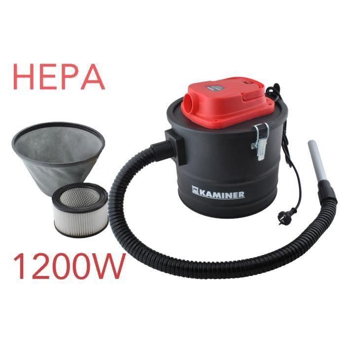 KAMINER aspirateur vide cendres cheminée poàªle Hepa 1200W 15L souffleur