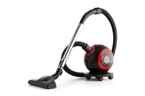 One Concept Pila - aspirateur sans sac - 800w - filtre hepa h11 - réservoir à poussière 1,2 litres - 18 kpa - rouge & noir