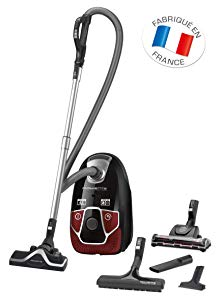 Rowenta RO6883EA Aspirateur Traîneau avec Sac X-Trem Power 4A+ Animal Care Pro 550W Noir et Rouge
