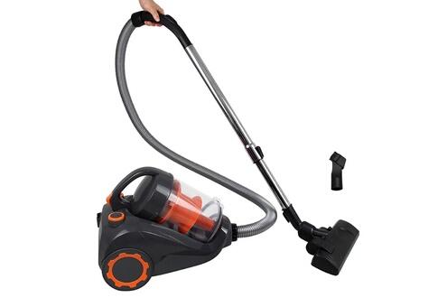 Todeco Aspirateur cyclonique, aspirateur traîneau sans sac, orange, capacité du bac à poussière: 2,5 l