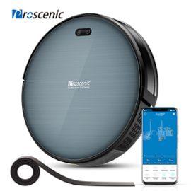 Aspirateur Robot Proscenic 820T Connecté Wi-Fi - Nettoyeur et Laveur 3 en 1 Sans Fil Aspiration Puissante - Bleu